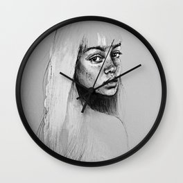 Portrait of a woman No.4 Wall Clock