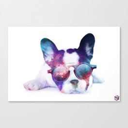 Space Frenchie  Canvas Print