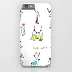 birds with dishes iPhone 6s Slim Case