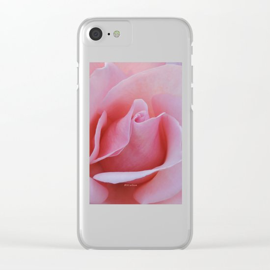 Rose Petal Pink Clear iPhone Case