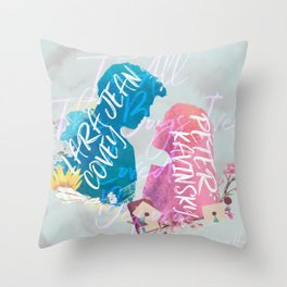 to all the boys i've loved before - PK and LJ Throw Pillow