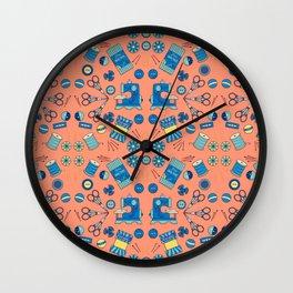 Sewing Symmetry Wall Clock