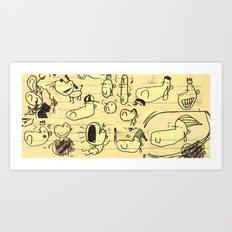 Doobles Art Print