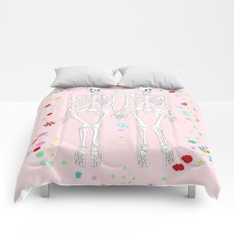 together forever pink background Comforters