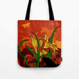 Jungle Lilies Tote Bag
