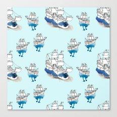 Ships Pattern Canvas Print