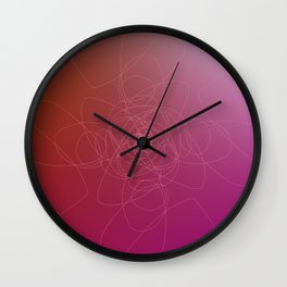 Design tribal  pink element Wall Clock