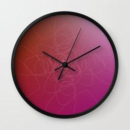 Design tribal  pink element Wall Clock