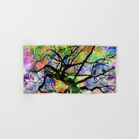 Frosted Tree Hand & Bath Towel