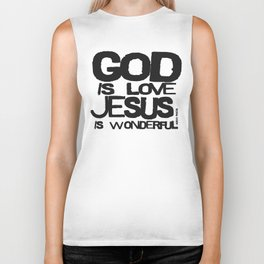 God is Love Jesus is Wonderful Biker Tank
