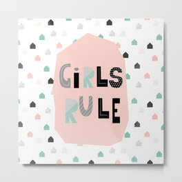 Girls Rule! Metal Print