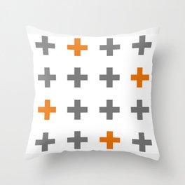 Swiss cross / plus sign Throw Pillow