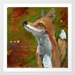 Wisdom of the Fox Art Print