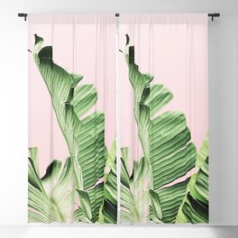 Banana Leaf on pink Blackout Curtain
