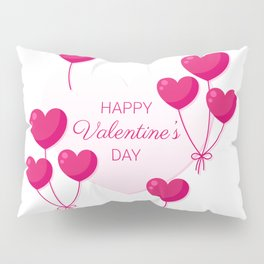 Balloon heart for Valentine's day Pillow Sham