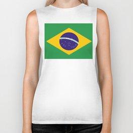 Flag of Brazil Biker Tank