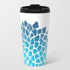 Sea Glass Dahlia Travel Mug