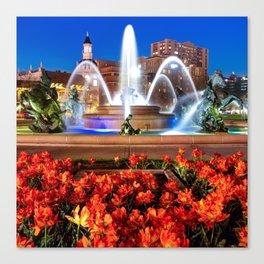 J.C. Nichols Memorial Fountain - Kansas City MO - Square Canvas Print