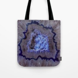 Quartz Inside Geode rustic decor Tote Bag