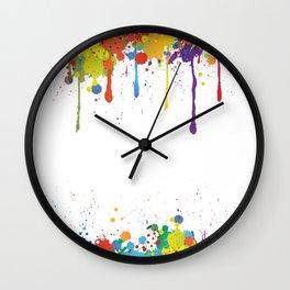 Paint Watercolor Splatter Wall Clock