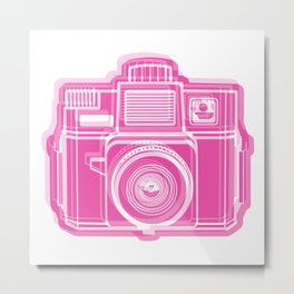 I Still Shoot Film Holga Logo - Pink Metal Print