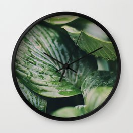 Garden Greens 2 Wall Clock