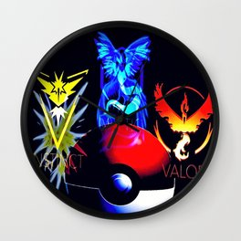 Teams Valor Mystic and Instinct Wall Clock