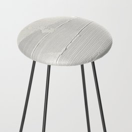 Relief [1]: an abstract, textured piece in white by Alyssa Hamilton Art Counter Stool