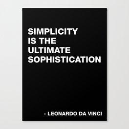 Leonardo da Vinci on Simplicity Quote Art Canvas Print