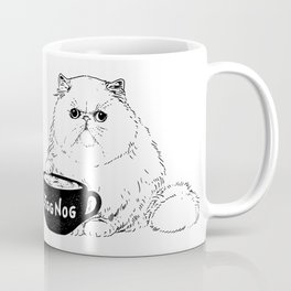 Egg Nog Cat Coffee Mug