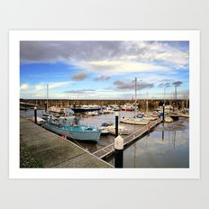 Watchet Marina Somerset England Art Print