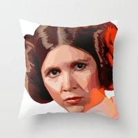 leia Throw Pillows featuring Leia by DavyR