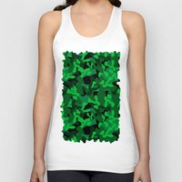 camouflage Tank Tops featuring Camouflage (Green) by 10813 Apparel