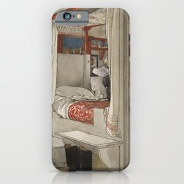 Carl Larsson - Daddy's Room (From a Home watercolor series) iPhone Case