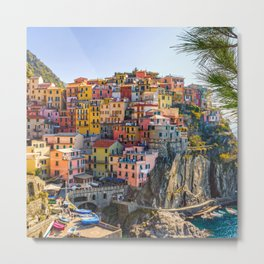 Italy Photography - Colorful Houses In Manarola Metal Print