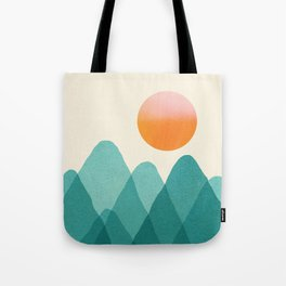 Abstraction_Mountains_SUNSET_Landscape_Minimalism_003 Tote Bag
