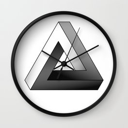 Impossible Triangle Wall Clock