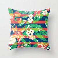tropical Throw Pillows featuring Tropical by Steven Toang