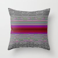 onward Throw Pillows featuring Ever Onward by Horus Vacui