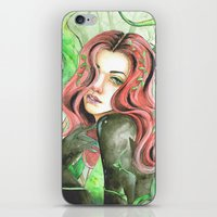 poison ivy iPhone & iPod Skins featuring Poison Ivy by Mitch Antonio