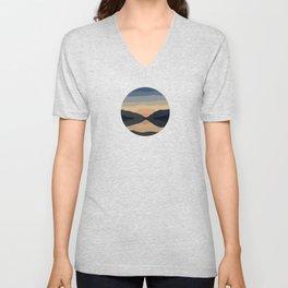 Sunset Mountain Reflection Unisex V-Neck