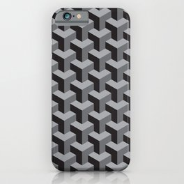 geometric b.w_01.op iPhone Case