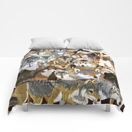 Wolves o´clock (Time to Wolf) Comforters