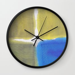 Dyed Color Squares #2 Wall Clock