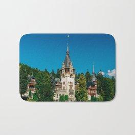 Peles Palace In Transylvania, Architecture Photography, Medieval Castle, Mountain Landscape, Romania Bath Mat