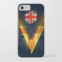british flag iPhone & iPod Cases featuring British by ilustrarte