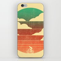 cycling iPhone & iPod Skins featuring Go West (cycling edition) by Picomodi