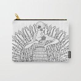 Art Nouveau Angel Mandala - Color Your Own Carry-All Pouch