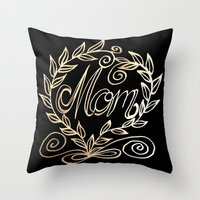 mom Throw Pillows featuring Mom by ArtLovePassion
