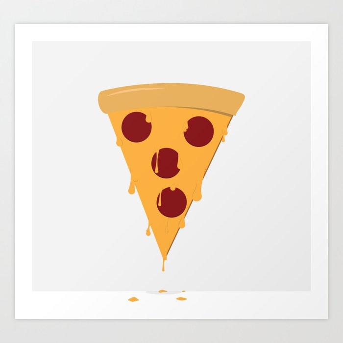 Cheesy Pizza Art Print